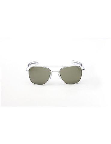 Occhiali Aviator Lenti Grigie - Montatura Grigio Satinato 52 mm
