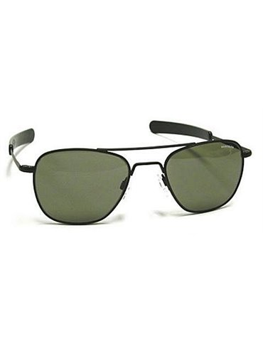 Aviator Sunglasses Matte Black with Grey lenses 55 mm