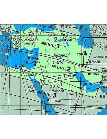 Carta Jeppesen IFR ME(H/L)1/2 Middle East