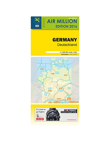 Carta Germania VFR 1:1 000 000 - LAM Ed. 2016