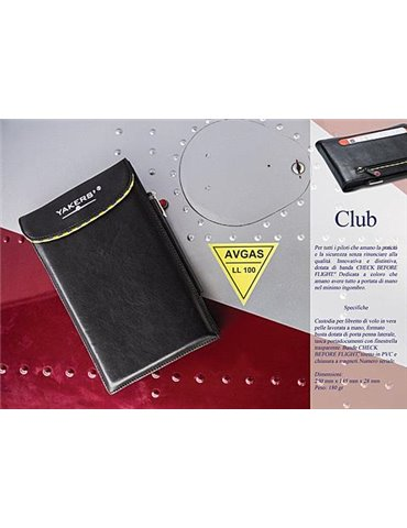 """Pilot Logbook EU FCL.050 with leather """"Club"""" cover"""