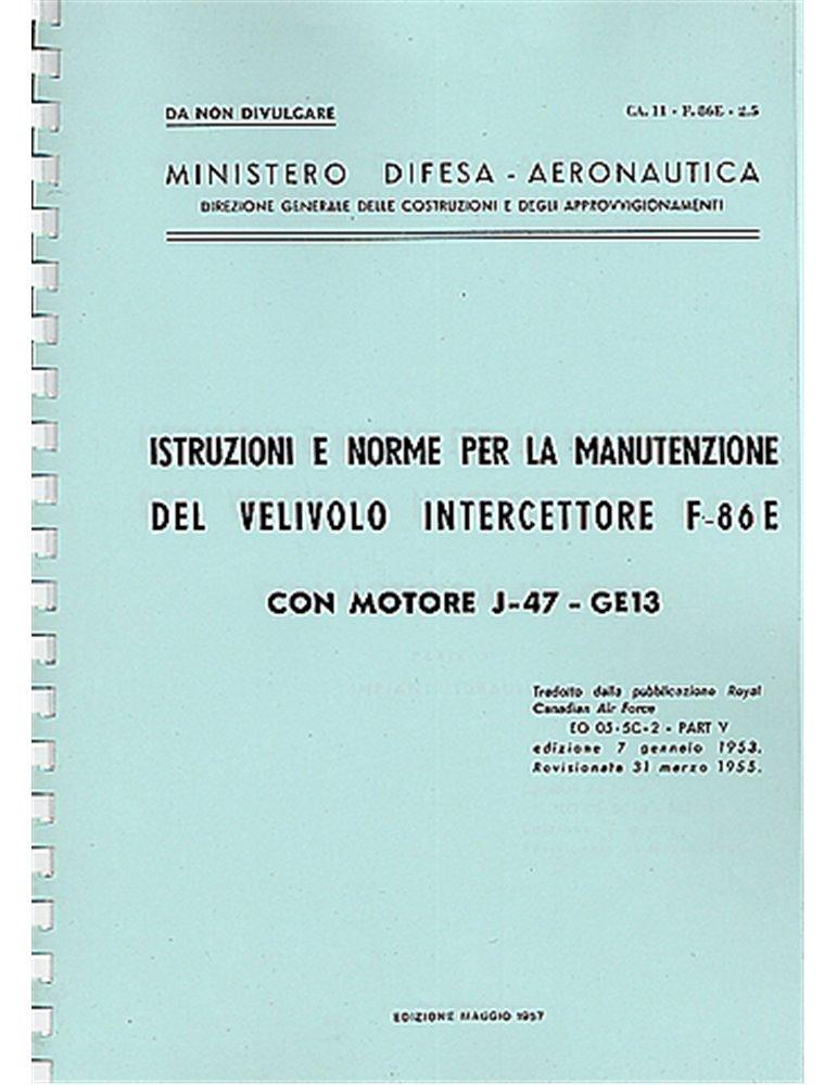 Manuale Manutenzione - North American F-86 E