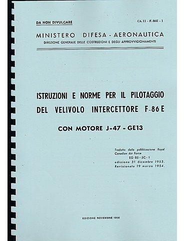Manuale Pilotaggio - North American F-86 E (Italiano)