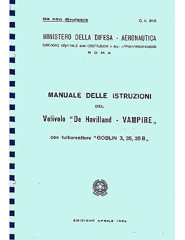Manuale Pilotaggio - Vampire (Testo in Italiano)