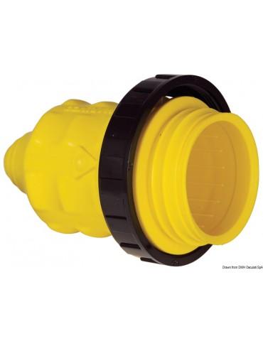 Yellow PVC watertight hood