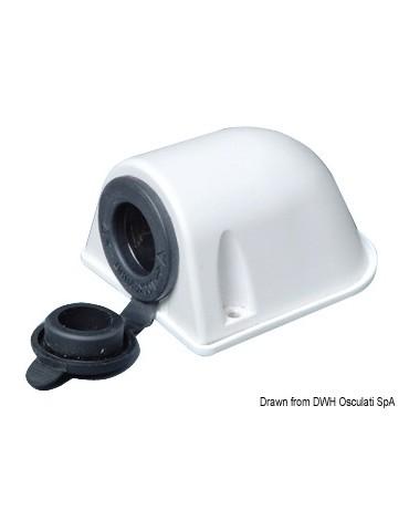 Watertight socket, white