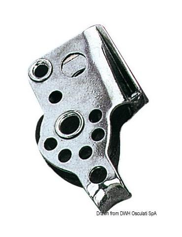 Bozzello inox 1 puleggia arricavo strozzatore 17x5