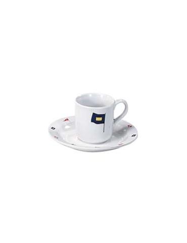 Set di 6 tazze e piatti da caffè MB