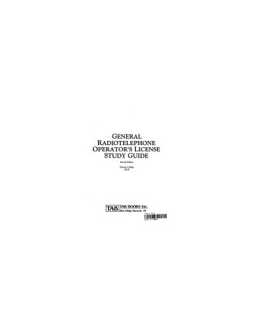 General Radiotelephone Operator's Study Guide